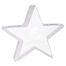 Star Acrylic with Silver Accent